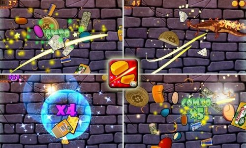 CUT THE CHEESE: FUDGE DRAGON - версия Fruit ninja от Glu