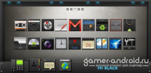 HI-Black GO LauncherEX Theme
