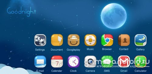 Goodnight - тема для GO Launcher EX