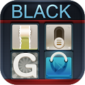 Black GO LauncherEX Theme - ���� ��� Go Launcher