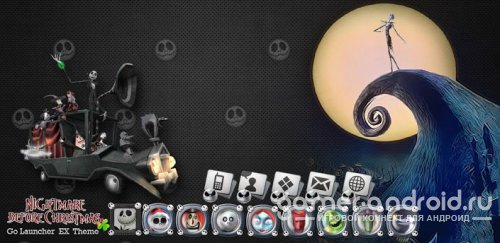 The Nightmare Before Christmas - тема для Go Launcher