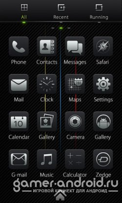 Dark GO LauncherEX Theme - ���� ��� Go Launcher