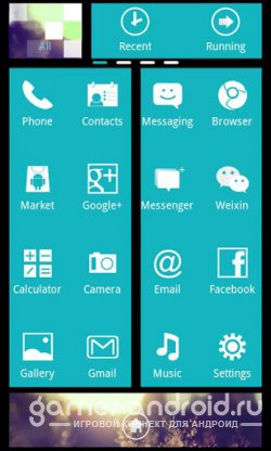 WP7blue Theme GO Launcher EX - тема для Go Launcher