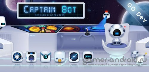 Captain Bot GO Super Theme - ���� ��� Go Launcher