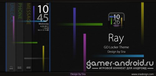 Ray GO Locker Theme - экран блокировки