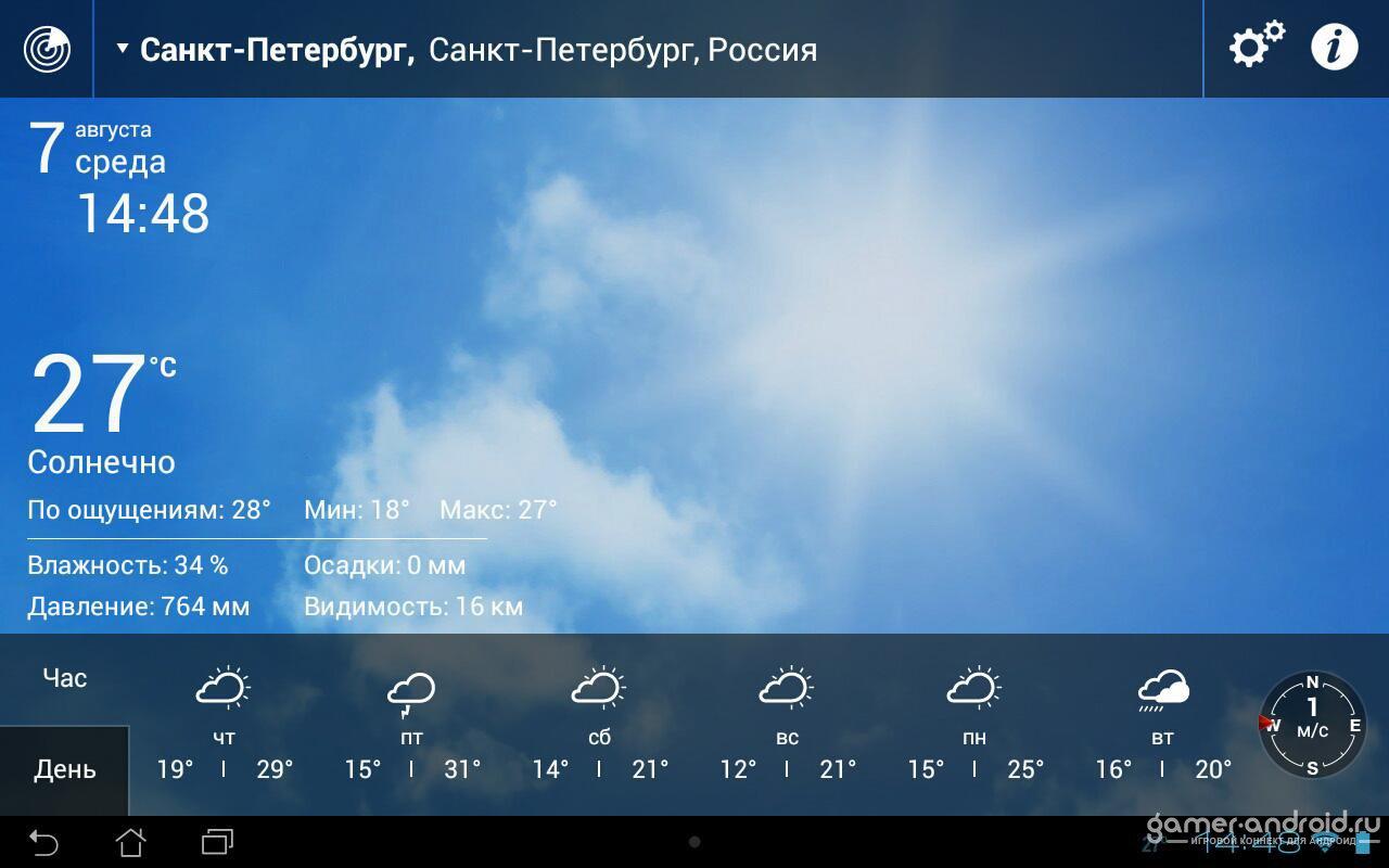 скачать виджет погоды на андроид без рекламы