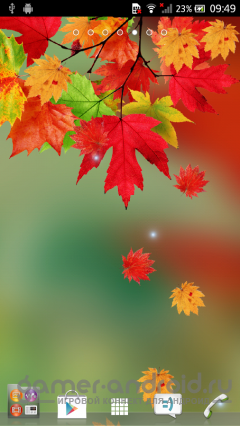 Falling Autumn Leaves LWP