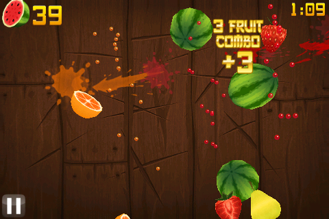 Fruit Ninja - Режим фрукты