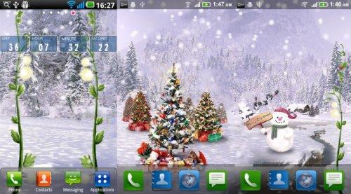 Christmas Snow Pro Live Wallpaper - Новогодние живые обои