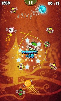 Bugs Circle - Christmas - Аркада на ловкость