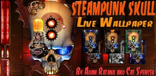 Steampunk Skull Live Wallpaper - Живые обои