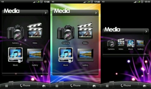 Sense 3 Media Plus - Виджет иконок медиа приложений