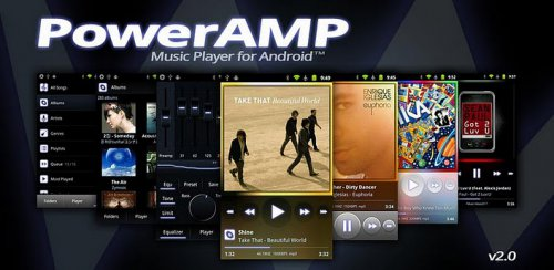 PowerAMP - Аудио плеер для платформы Android