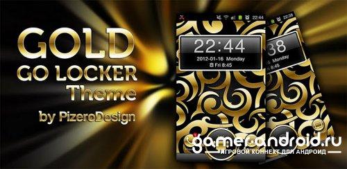 Gold Droid - Золотая тема для GO Locker