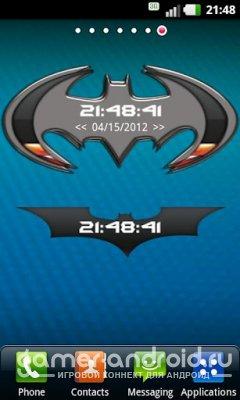 Batman widget - Часы с батарейкой