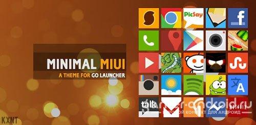Go Launcher Minimal MIUI Theme - тема минимализма