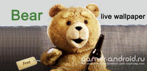 Живые обои с медведем
