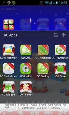 Новогодняя тема для Go Launcher