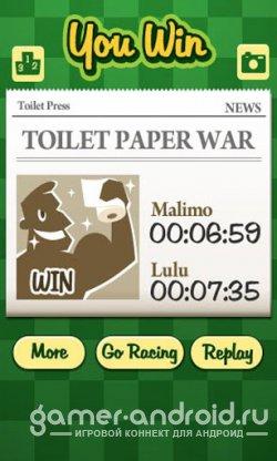 Paper Racing - Разматываем бумагу на скорость!