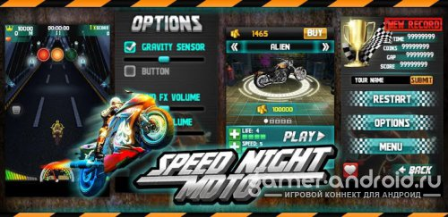 Speed Night Moto 3D