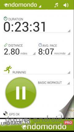 Endomondo Sports Tracker - считает колории, дистанцию, пульс, показывает площадки, маршрут