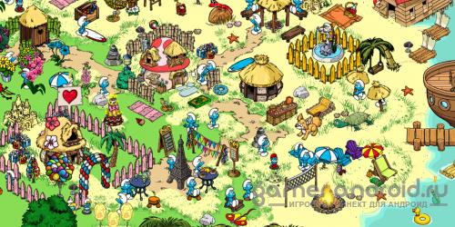 Smurfs' Village - построй деревню смурфиков