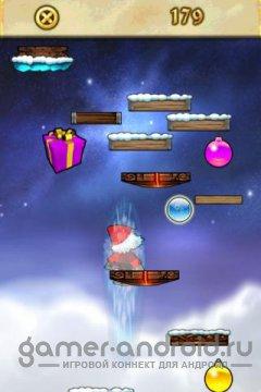 Jumpy Xmas - Играем за санту и собираем бонусы