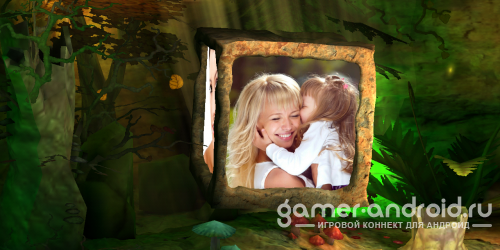 Photo Cube 3D - Magic Forest - живые обои с фото-кубом 3Д