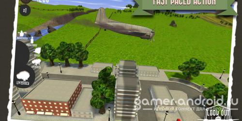 Look Out Below - управляйте самолетом и сбрасывайте грузы
