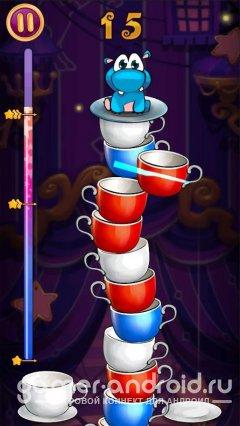 Sky Cups - смесь игр три в ряд и fruit ninja