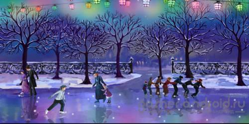 Christmas Rink Live Wallpaper - Рождественский Каток