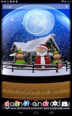 3D Christmas Advent Snow Globe