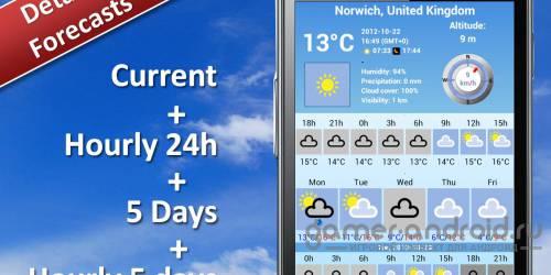 Weather 5 days - Погода на 5 дней