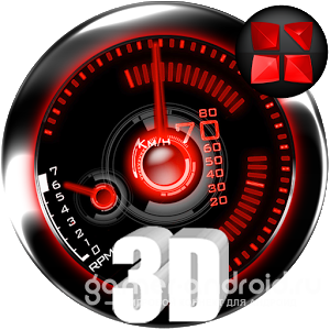 Next Launcher Theme Red-Drift
