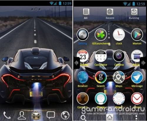 Mclaren Car GO Launcher Theme