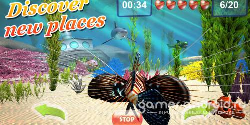 Underwater world. Adventure 3D