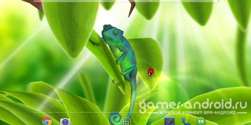 Chameleon 3D Live Wallpaper