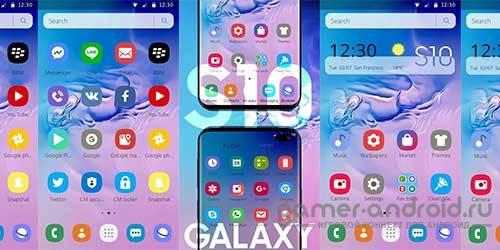 Тема Samsung Galaxy S10 на Андроид