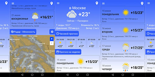 Weather Forecast - Прогноз погоды